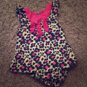 Other - Leopard Flower and Hearts Baby Girl Dress